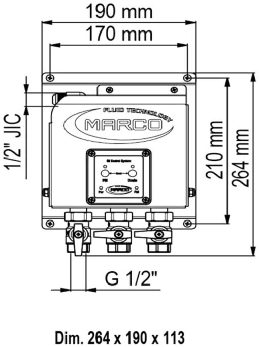 Marco OCS3/E Elektronisches Ölwechselsystem - 3 BSP Ventile 4