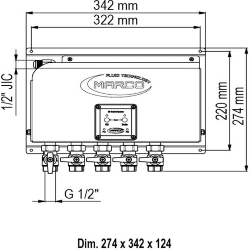 Marco OCS5/E Elektronisches Ölwechselsystem - 5 BSP Ventile 4
