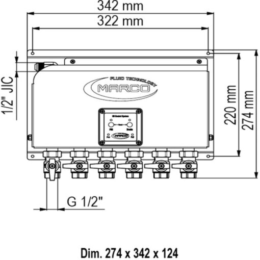 Marco OCS6/E Elektronisches Ölwechselsystem - 6 BSP Ventile 4