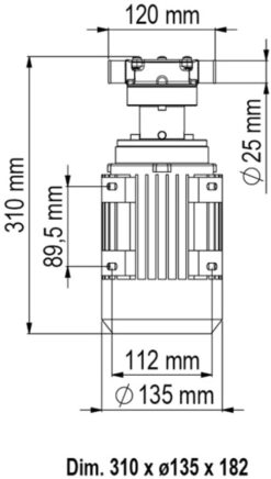 Marco UP1/AC 220 V 50 Hz Pumpe mit Nitrilgummizahnrad 30 l/min 7