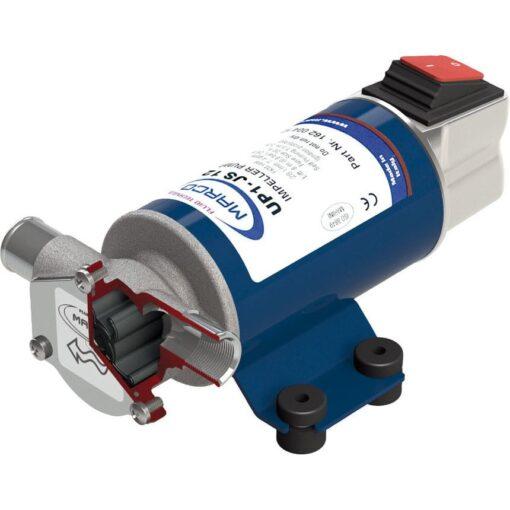 Marco UP1-JS Impellerpumpe 28 l/min mit integriertem on/off Schalter (12 Volt) 2
