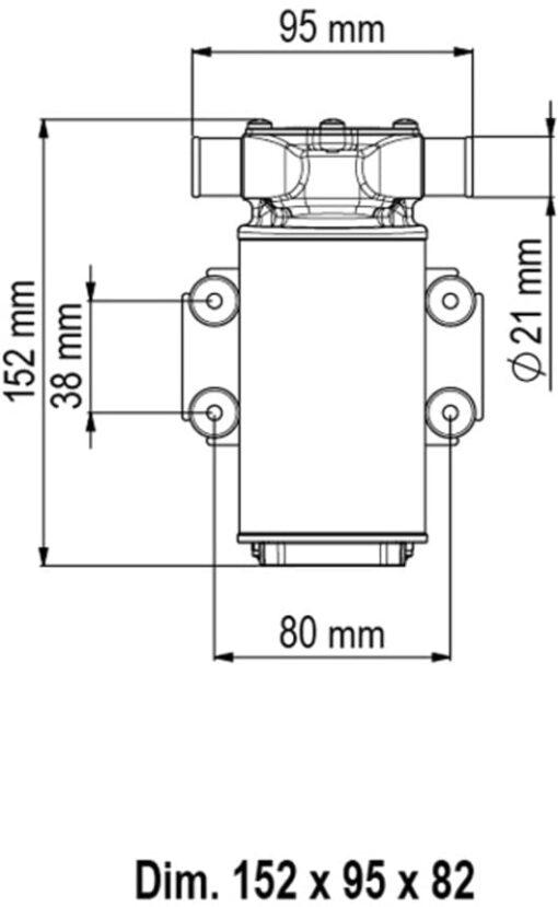 Marco UP1-J Pumpe mit Nitrilgummizahnrad 28 l/min (12 Volt) 3