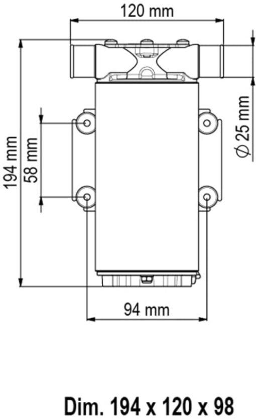 Marco UP1-M Pumpe mit Nitrilgummizahnrad 45 l/min (24 Volt) 4