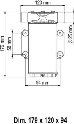 Marco UP1 Pumpe mit Nitrilgummizahnrad und int. Bürsten 35 l/min (12 Volt) 6