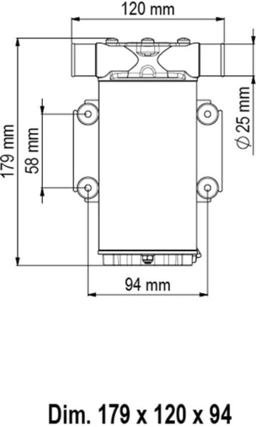 Marco UP1 Pumpe mit Nitrilgummizahnrad und int. Bürsten 35 l/min (12 Volt) 3