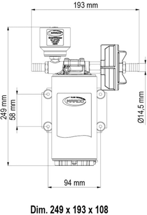 Marco UP10/E Elektronische Süßwasserpumpe 18 l/min 6