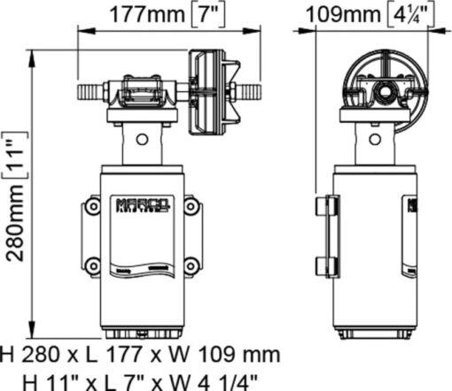Marco UP10-XA Pumpe für Herbizide 18 l/min - AISI 316 L - EDPM Dichtungen (12 Volt) 4