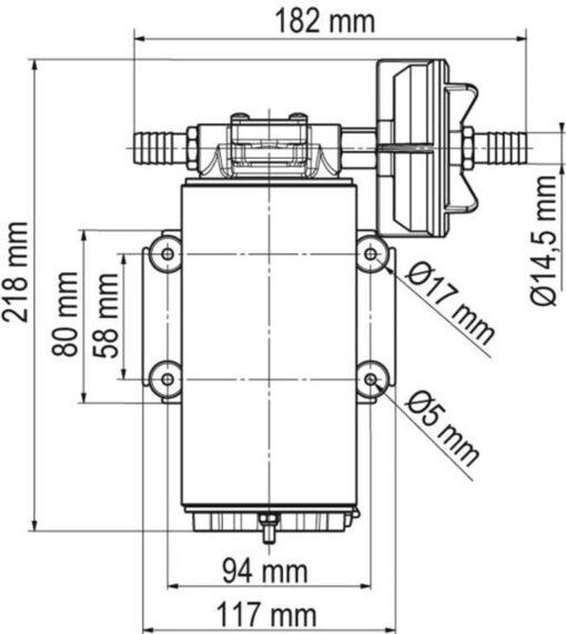 Marco UP10-XC Pumpe aus Edelstahl für Dauerbelastung 18 l/min - AISI 316 L (24 Volt) 4
