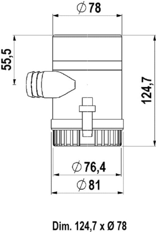 Marco UP1000 Eintauchpumpe 63 l/min (24 Volt) 3