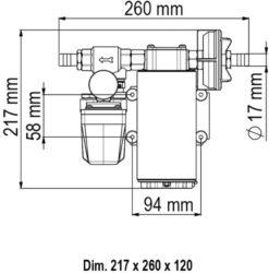 Marco UP12/A Automatische Druckwasserpumpe mit Druckwächter 36 l/min (24 Volt) 7