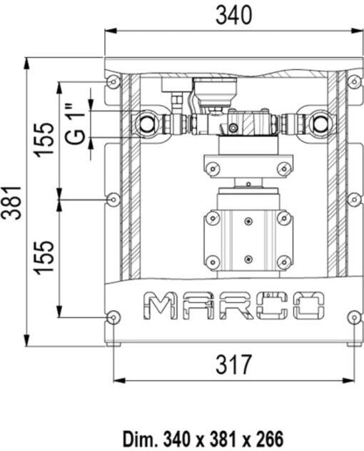 Marco UP12/E-DX Elektronische Druckwasseranlage 72 l/min 4