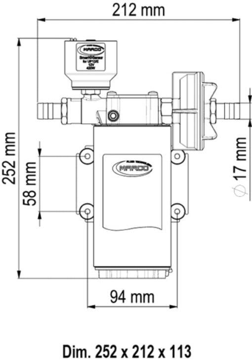 Marco UP12/E Elektronische Süßwasserpumpe 36 l/min 4
