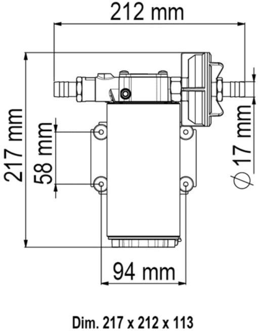 Marco UP12-PV Pumpe mit PTFE Zahnrädern und Rückschlagventil 36 l/min (12 Volt) 6
