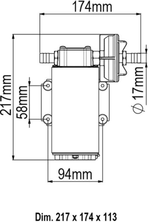 Marco UP12-P Pumpe mit PTFE Zahnrädern 36 l/min (12 Volt) 6