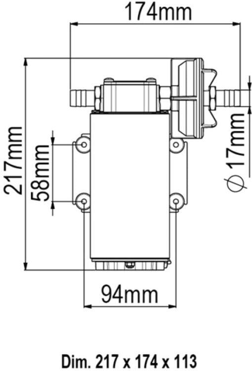 Marco UP12 Pumpe mit Bronzezahnrädern 36 l/min (24 Volt) 6