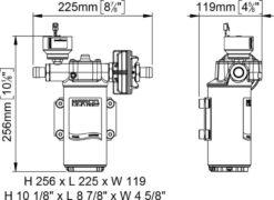 Marco UP14/E-BR 12/24V Elektronische Pumpe mit Bronzezahnräder 46 l/min 13