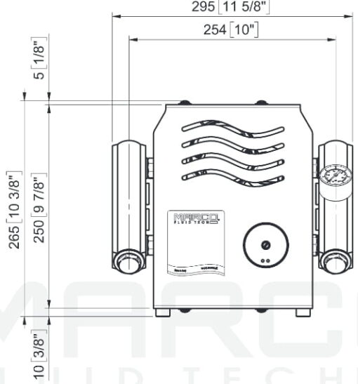 Marco UP14/E-DX Elektronische Druckwasseranlage mit PCS 92 l/min 7
