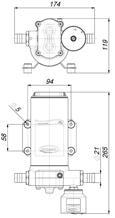 Marco UP14/E Elektronische Süßwasserpumpe 46 l/min 4