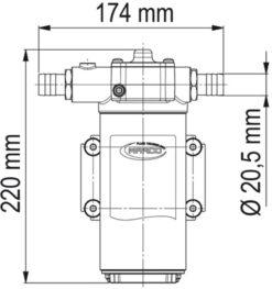 Marco UP14-PV Pumpe mit PTFE Zahnrädern und Rückschlagventil 46 l/min (24 Volt) 9