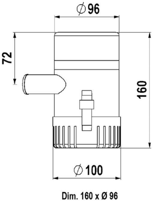 Marco UP1500 Eintauchpumpe 95 l/min (12 Volt) 3