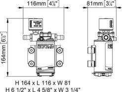 Marco UP2/E-BR 12/24V Elektronische Pumpe mit Bronzezahnräder 10 l/min 11