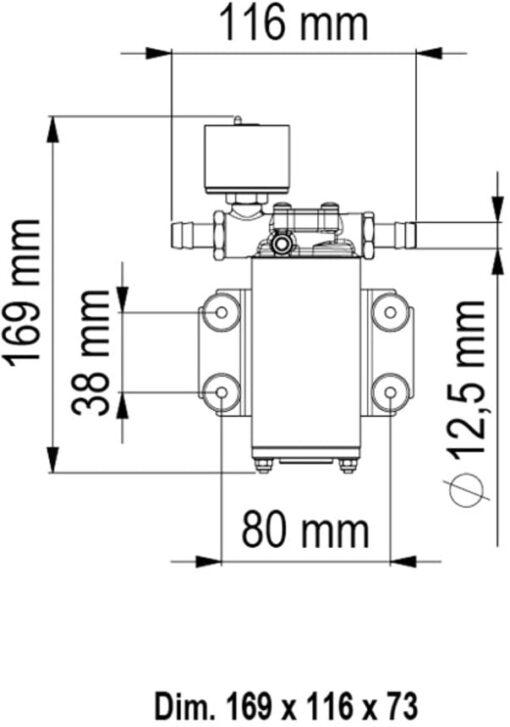 Marco UP2/E Elektronische Süßwasserpumpe 10 l/min 5