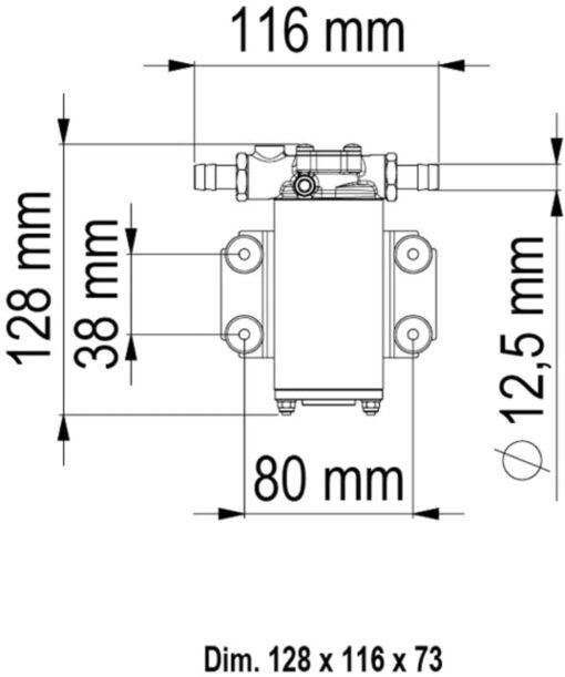 Marco UP2-PV Pumpe mit PTFE Zahnrädern und Rückschlagventil 10 l/min (12 Volt) 6