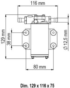Marco UP2-P Pumpe mit PTFE Zahnrädern 10 l/min (12 Volt) 7