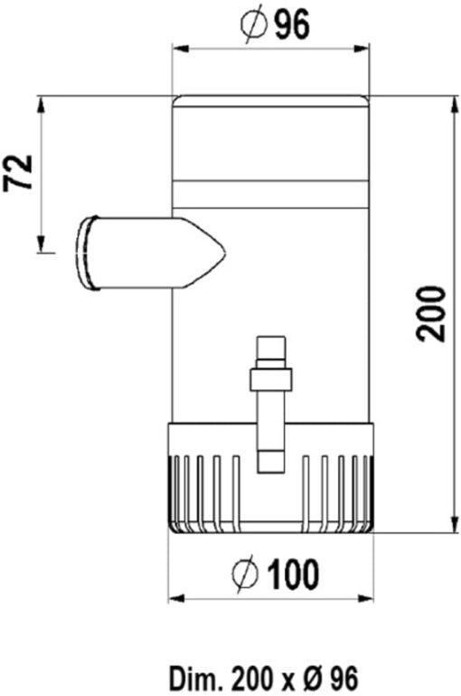 Marco UP2000 Eintauchpumpe 126 l/min (12 Volt) 5