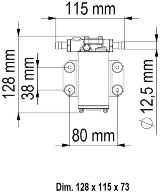 Marco UP2 Pumpe mit Bronzezahnrädern 10 l/min (12 Volt) 4