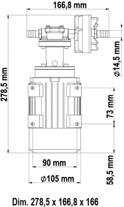 Marco UP3/AC 220 V 50 Hz Zahnradpumpe 10 l/min 6