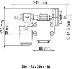 Marco UP3/A Automatische Druckwasserpumpe mit Druckwächter 15 l/min (24 Volt) 7
