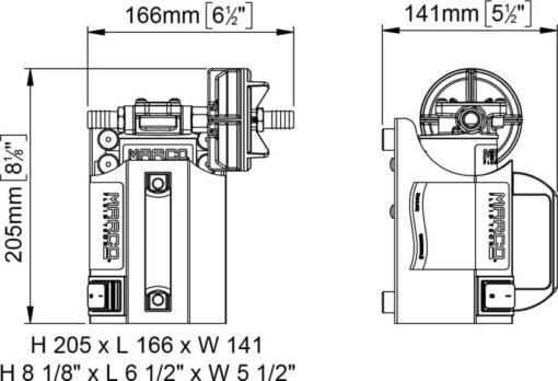Marco UP3-CK Kit tragbare Zahnradpumpe 15 l/min (12 Volt) 5