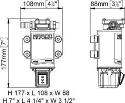 Marco UP3/OIL-R Ölpumpe mit integriertem on/off Schalter reversibel (12 Volt) 9