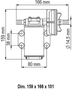 Marco UP3-P Pumpe mit PTFE Zahnrädern 15 l/min (24 Volt) 9