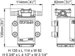 Marco UP3-RK Kit reversible Pumpe 15 l/min mit Paneel (12-24 Volt) 10