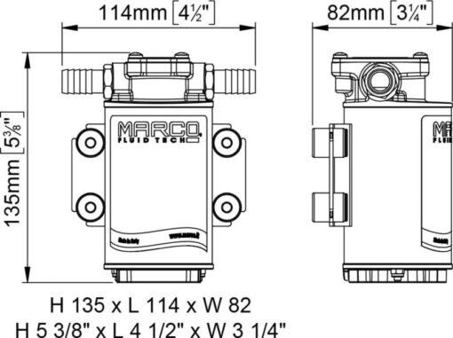 Marco UP3-RK Kit reversible Pumpe 15 l/min mit Paneel (12-24 Volt) 5