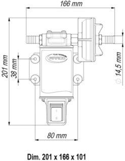 Marco UP3-S Zahnradpumpe 15 l/min mit integriertem on/off Schalter (24 Volt) 9
