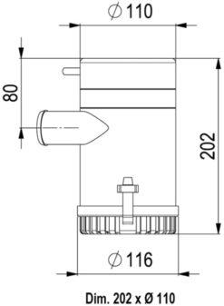 Marco UP3700 Eintauchpumpe 233 l/min (24 Volt) 6