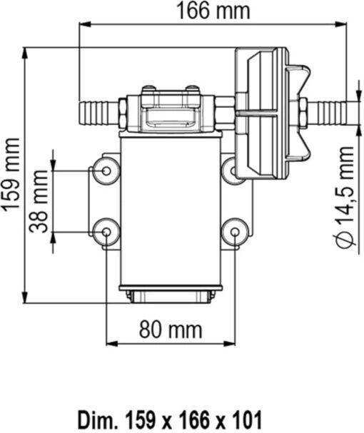 Marco UP3 Pumpe mit Bronzezahnrädern 15 l/min (12 Volt) 6