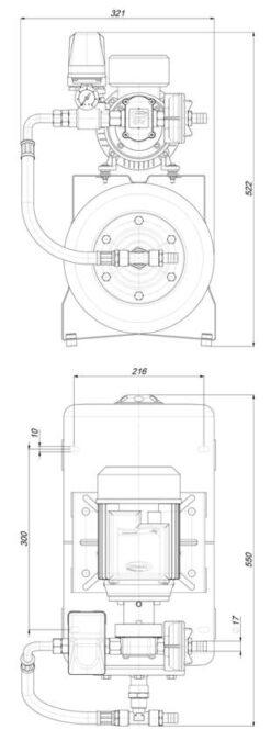 Marco UP6/A-AC 220 V 50 Hz Automatische Druckwasserpumpe mit Ausdehnungsgefäss 20 l 7