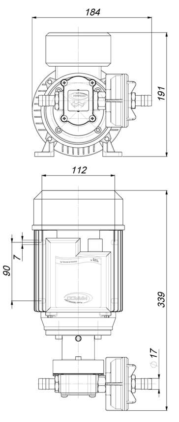 Marco UP6/AC 220 V 50 Hz Pumpe mit PTFE Zahnrädern 28 l/min 6