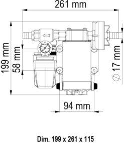 Marco UP6/A Automatische Druckwasserpumpe mit Druckwächter 26 l/min (12 Volt) 9