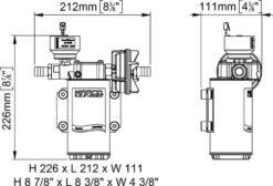 Marco UP6/E-BR 12/24V Elektronische Pumpe mit Bronzezahnräder 26 l/min 12