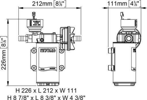 Marco UP6/E-BR 12/24V Elektronische Pumpe mit Bronzezahnräder 26 l/min 7