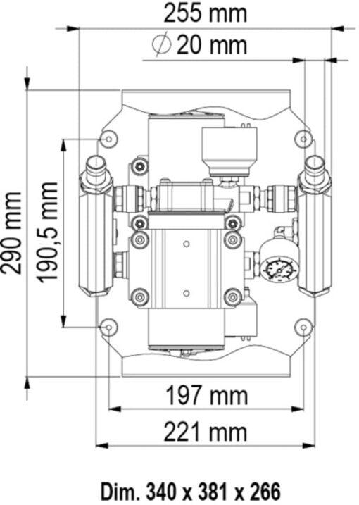Marco UP6/E-DX Elektronische Druckwasseranlage 52 l/min 6