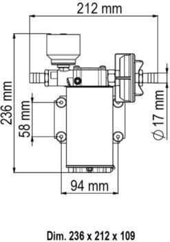 Marco UP6/E Elektronische Süßwasserpumpe 26 l/min 6