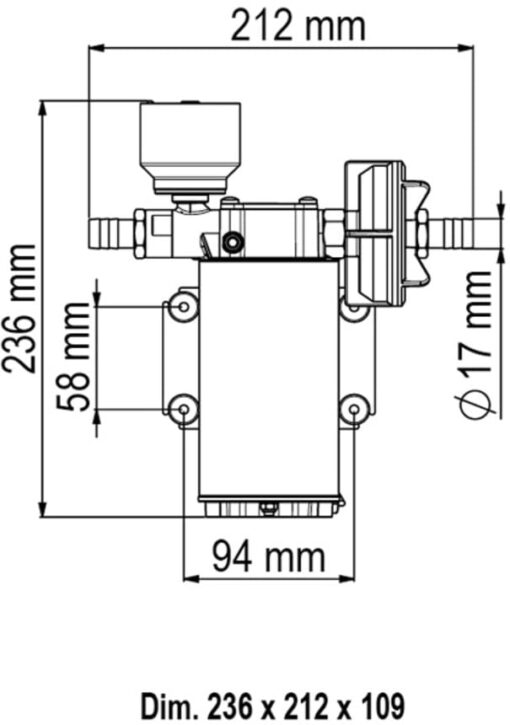 Marco UP6/E Elektronische Süßwasserpumpe 26 l/min 3
