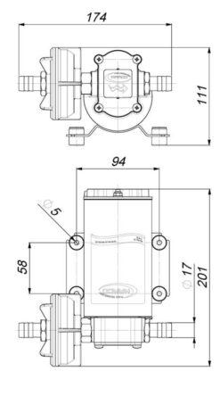 Marco UP6-P Pumpe mit PTFE Zahnrädern 26 l/min (24 Volt) 9