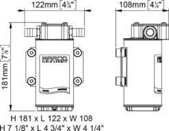 Marco UP6-RK Kit reversible Pumpe 26 l/min mit Paneel (12-24 Volt) 13